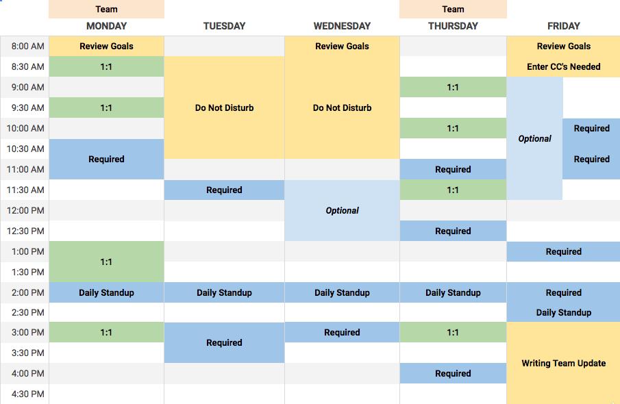 Refreshed calendar